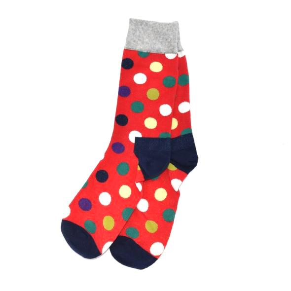 Socks - Polka Dot Red Men's Socks
