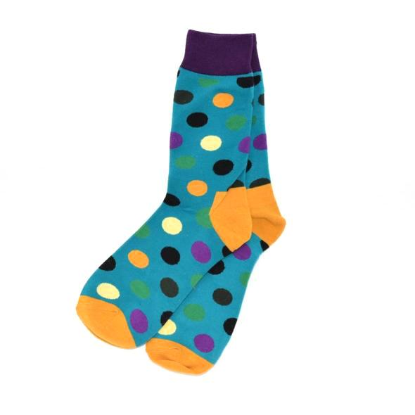Socks - Polka Dot Teal Men's Socks