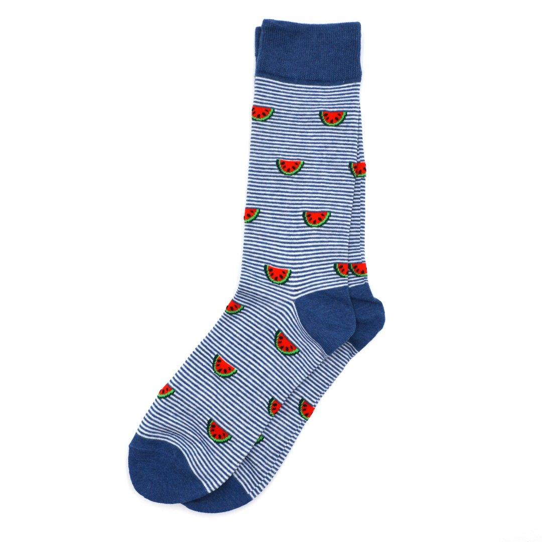 Socks - Striped Watermelon Men's Socks