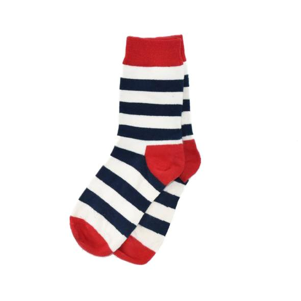 Socks - Striped White Men's Socks