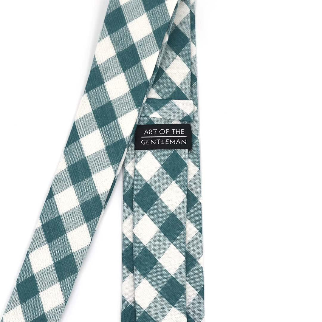 Tie - Checkered Hunter Green Tie