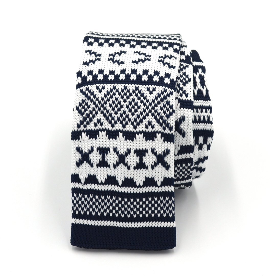 Tie - Knitted Navy Tundra Tie