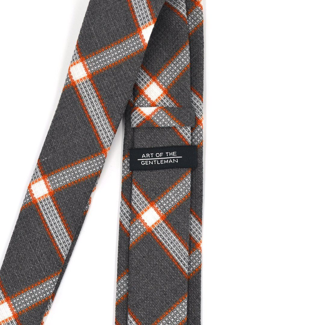 Tie - Plaid Textured Pebble Tie