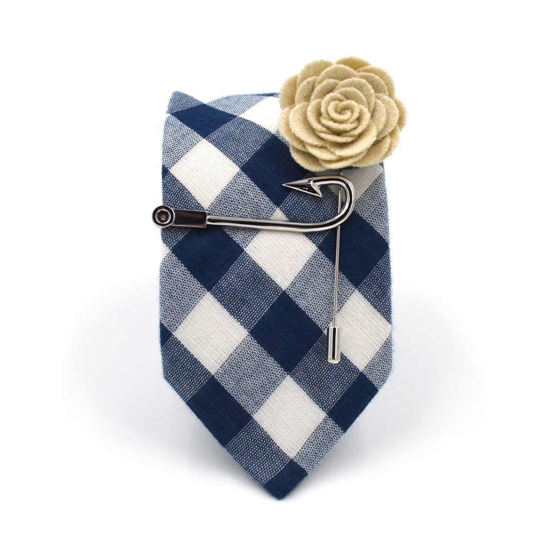 Tie Set - Checkered Navy Tie Set
