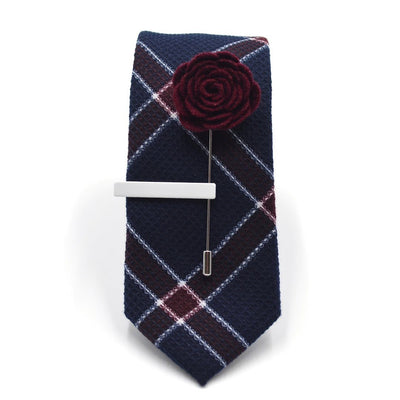 Tie Set - Plaid Textured Admiral Tie Set