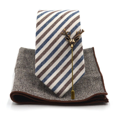 Tie Set - Striped Oxford Tie Set