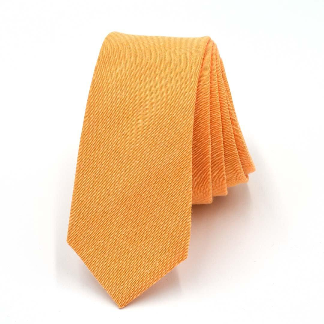 Tie - Solid Light Orange Tie