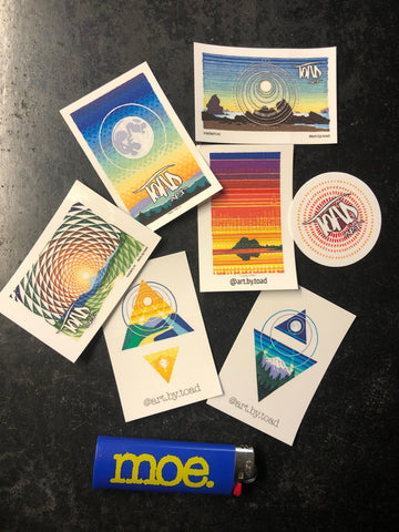 STICKER PACKS!-- Six stickers