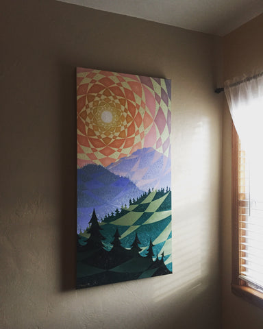 """Trinity Alpine Sunset"" Canvas Print"