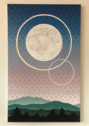 """Moon in Libra"" Canvas Print"