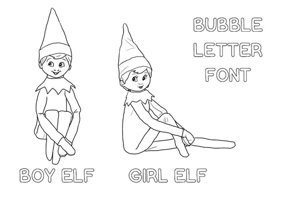 - Elf On The Shelf Coloring Template Kyttenjanae.com