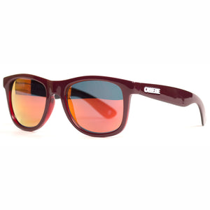 Maroon/Fire Mirror Lens Sunglasses
