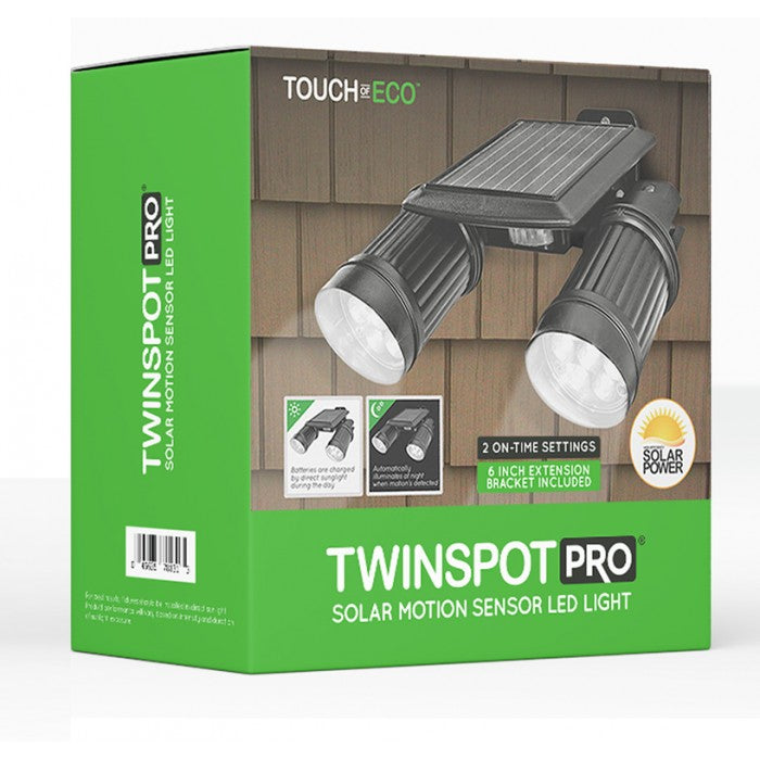 TWINSPOT Solar Motion Sensor LED Light Outdoor Lighting