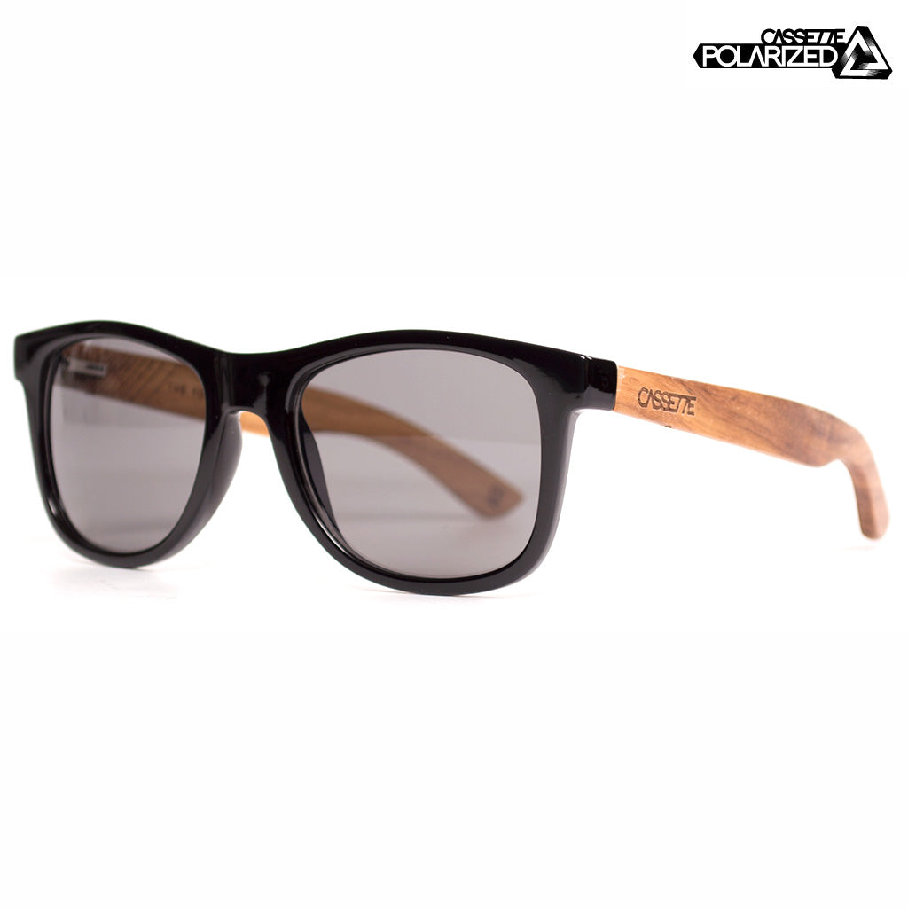 Black & Kossowood/Smoke Polarized Lens Sunglasses