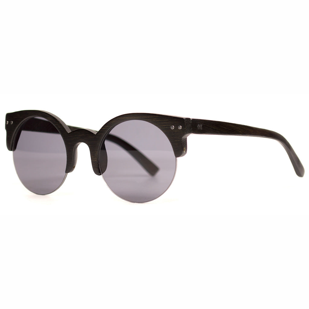 Black Bamboo/Smoke Lens Sunglasses