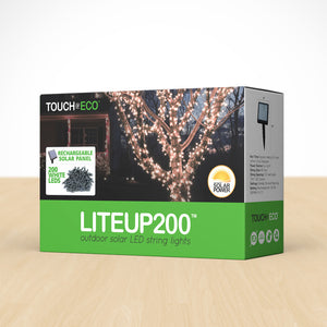 LITEUP Solar String Lights Outdoor Lighting