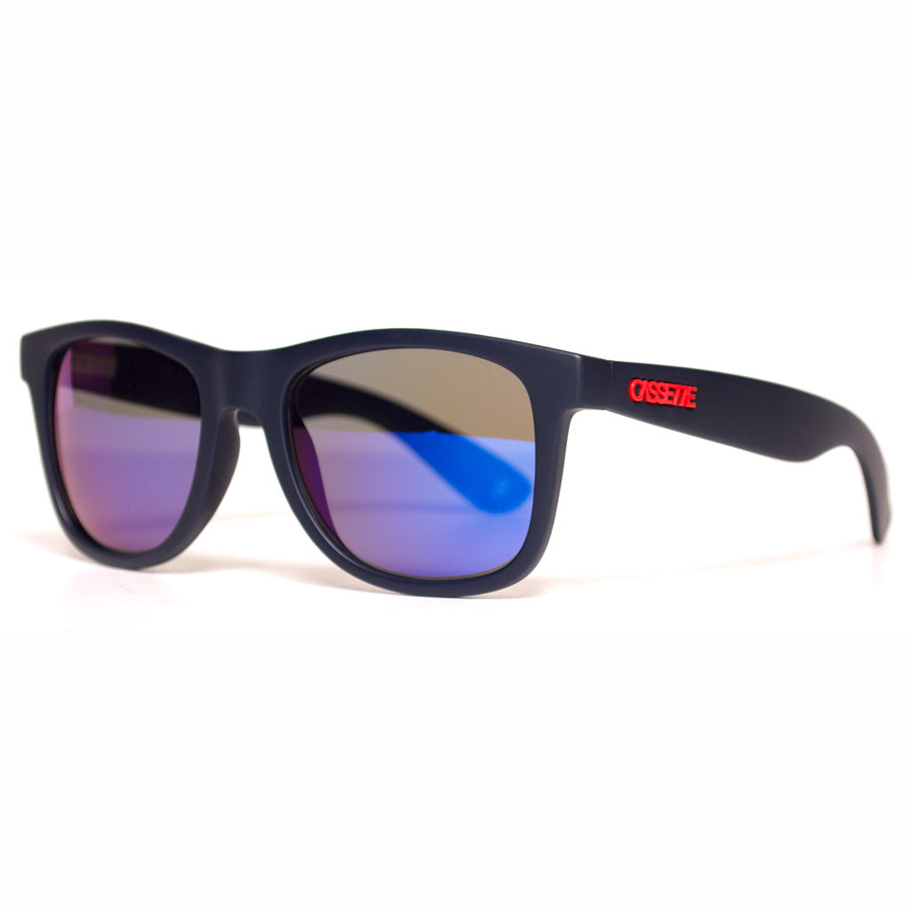 Matte Navy/Blue Mirror Lens Sunglasses