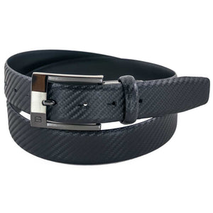 Flybelt - 35mm Carbon Fiber Print Leather Belt Set Belts