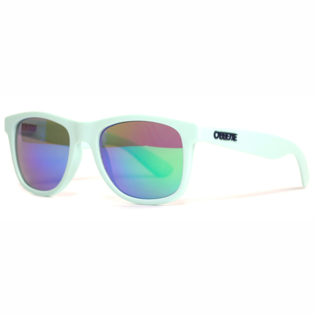 Matte Seafoam/Green Mirror Lens Sunglasses
