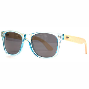 Tiff Blue & Natural Bamboo/Smoke Lens Sunglasses