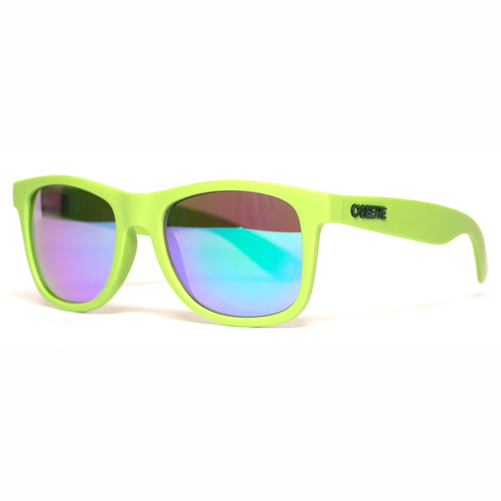 Matte Lime Green/Green Mirror Lens Sunglasses