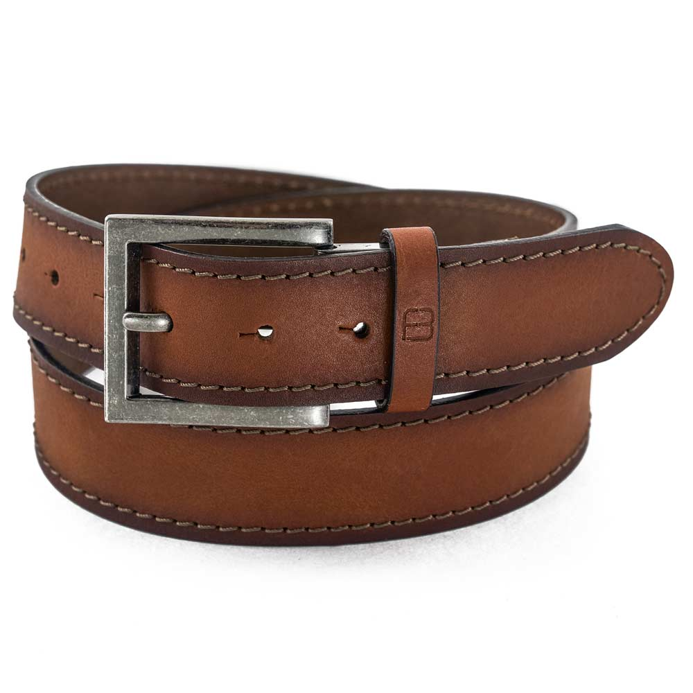 Flybelt - 40mm Stitched, Full Grain Italian Leather Jean Belt Set Belts