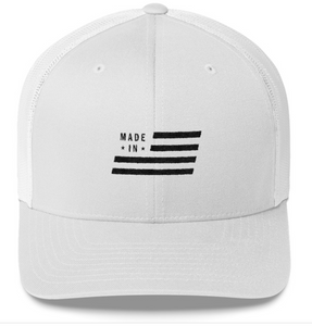 Made In USA White Mesh Snap