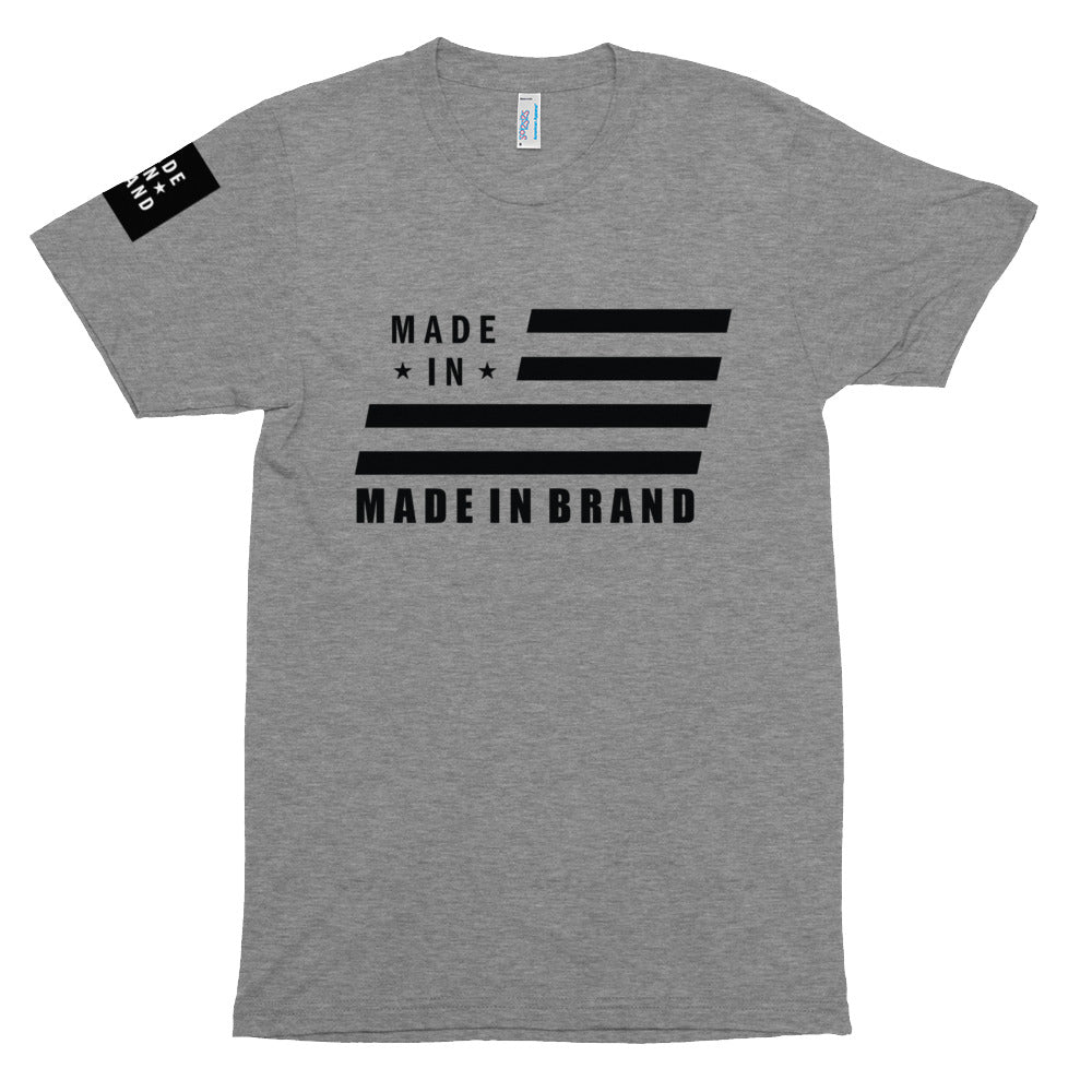 Made In USA Grey Tri-Blend Tee