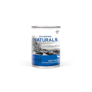 Diamond Naturals Real Meat Recipe Premium Canned Wet Pate Dog Food With Real Beef, 13.2Oz Case Of 12 - Kaulana Pets