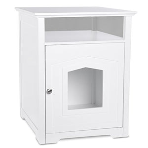 Arf Pets Designer Enclosed Cat Litter Furniture Box House with Table - Kaulana Pets