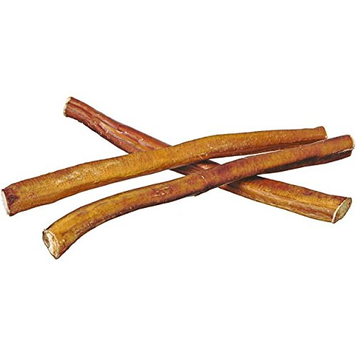 "12"" Straight Bully Sticks for Dogs or Puppies (25 Pack) All Natural & Odorless Bully Bones 