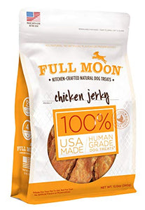 Full Moon All Natural Human Grade Chicken Jerky Dog Treats, 12 Oz - Kaulana Pets