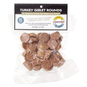 Fresh Is Best Freeze-Dried Raw Turkey Giblet Treats for Dogs and Cats, 3.5 oz dog treats  Kaulana Pets