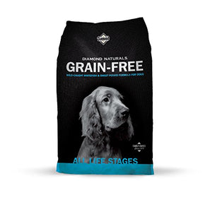 Diamond Naturals Grain Free Real Meat Recipe Premium Dry Dog Food With Real Fish 28Lb - Kaulana Pets