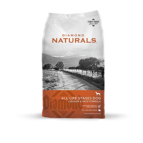 Diamond Naturals All Life Stages Real Meat Recipe Dry Dog Food With Premium Ingredients With Grain And Real Cage Free Chicken 40Lb