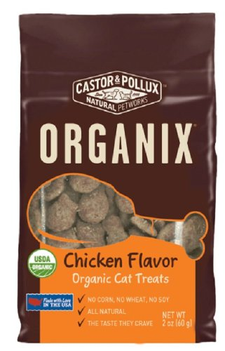 Castor & Pollux Organix Chicken Flavored Cat Treats, 2 Ounce Packages (Pack of 12) cat treats  Kaulana Pets