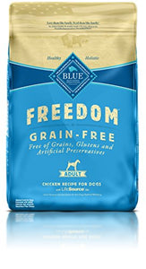 BLUE Freedom Adult Grain Free Chicken Dry Dog Food 24-lb - Kaulana Pets