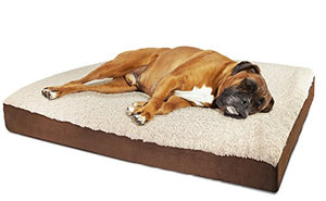 OxGord Orthopedic Pet Bed Foam-Mattress for Dogs & Cats - Quilted Rectangular Fits Crate Carrier - Extra Large 44 Long x 35 Wide - Kaulana Pets