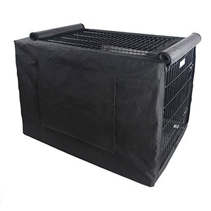 Petsfit Black Polyester Crate Cover for 30 Inches Wire Crates,Size 3000,One Door - Kaulana Pets