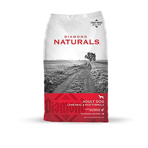 Diamond Naturals Adult Real Meat Recipe Premium Dry Dog Food With Real Pasture Raised Lamb Protein 40Lb - Kaulana Pets