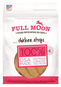 Full Moon All Natural Human Grade Dog Treats, Chicken Strips, 12.5 Ounce - Kaulana Pets