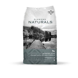 Diamond Naturals Senior Real Meat Recipe Natural Dry Dog Food With Real Cage Free Chicken, 35Lb - Kaulana Pets