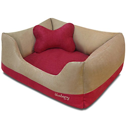 Heavy Duty Microsuede Overstuffed Bolster Lounge Pet Bed dog bed  Kaulana Pets