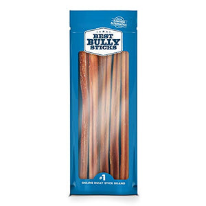 12-inch Standard Bully Sticks by Best Bully Sticks (1 pack of 12 units) dog treats  Kaulana Pets