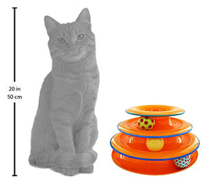 Tower of Tracks Ball and Track Interactive Toy for Cats, Fun Cat Game by Petstages - Kaulana Pets