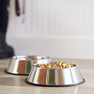 AmazonBasics Stainless Steel Dog Bowl - Set of 2 - Kaulana Pets