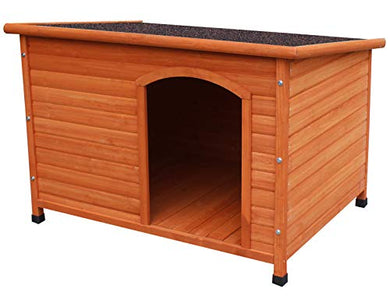 Waterproof Solid Cedar Deluxe Dog House dog house  Kaulana Pets