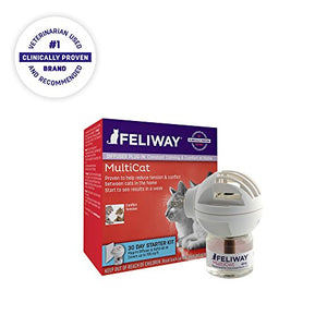 Feliway MultiCat Diffuser Starter Kit | Constant Harmony & Calming Between Cats at Home - Kaulana Pets