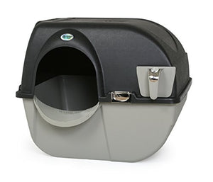 Omega Paw Elite Self Cleaning Roll 'n Clean Litter Box, Midnight Black, Large - Kaulana Pets