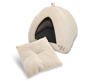 Pet Tent - Soft Bed for Dog and Cat, Best Pet Supplies, Medium, Corduroy Beige - Kaulana Pets